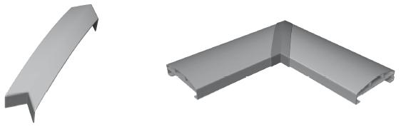 Handlaufstoßverbinder 90°Winkel für Handlauf 150 x 45 mm
