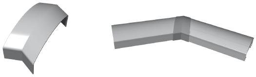 Handlaufstoßverbinder 135°Winkel für Handlauf 90 x 40 mm