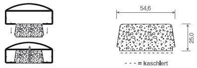 Klipsprofil für Handlauf 90 x 40 mm