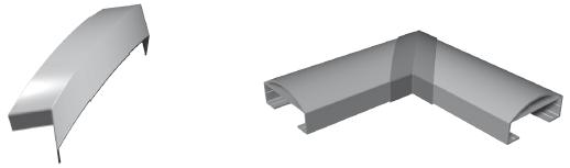 Handlaufstoßverbinder 90°Winkel für Handlauf 90 x 40 mm