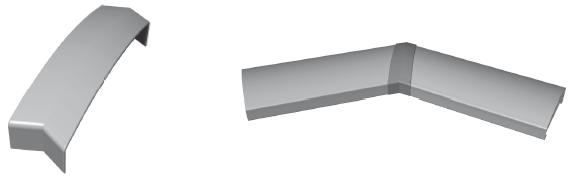 Handlaufstoßverbinder 135°Winkel für Handlauf 150 x 45 mm