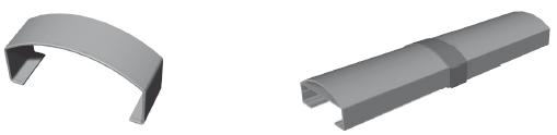 Handlaufstoßverbinder gerade für Handlauf 90 x 40 mm