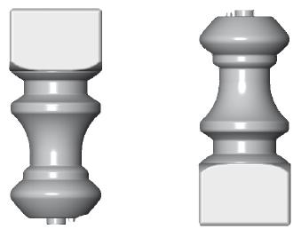 Kopf-/ Fußteil für Balustraden