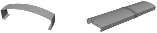 Handlaufstoßverbinder gerade für Handlauf 150 x 45 mm